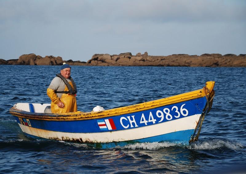 """Frédo dans son bateau """"le rebelote"""""""